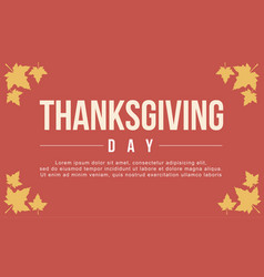 Thanksgiving day background flat vector