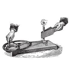Tyndalls experiment vintage vector