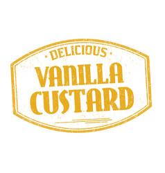 vanilla custard sign or stamp vector image