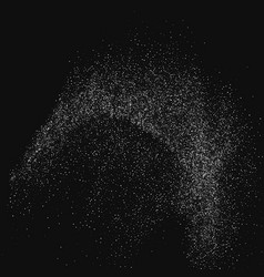 white abstract particles on black background vector image
