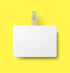 White rectangular supermarket shelf paper wobbler vector