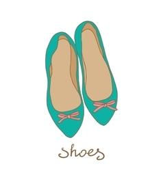 women shoes flat ballerina vector image