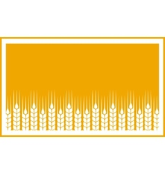 Yellow label with wheat ears vector