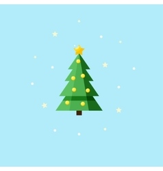 Christmas decorated fir-tree - Icon vector image vector image