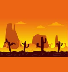 linear seamless desert vector image