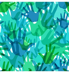 pattern of the palms vector image vector image