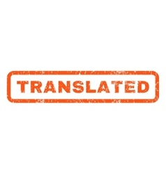Translated Rubber Stamp vector image