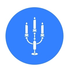Candlestick lamp icon of for vector image vector image