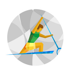 canoe sprint with abstract patterns vector image vector image