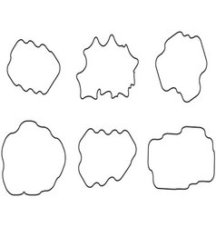 Cloud linear set vector image vector image