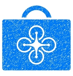 Drone toolcase grainy texture icon vector