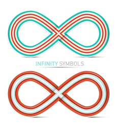 Infinity symbols set vector