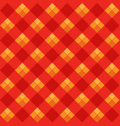 red argyle seamless pattern vector image