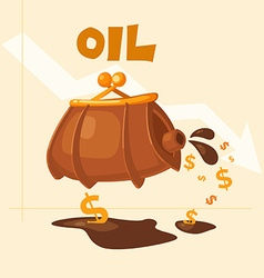 The image of the barrel of oil vector image vector image