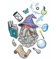 Wizard portrait vector