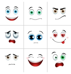 Emotions set square vector