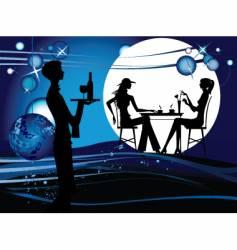 evening restaurant vector image vector image