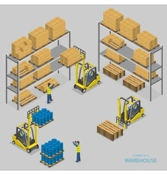 Warehouse loading isometric vector image