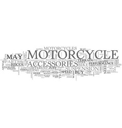 what matters most in motorcycles text word cloud vector image