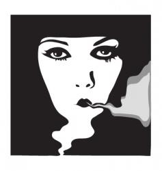woman portrait 1900 vector image