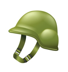 Army helmet isolated on white vector image