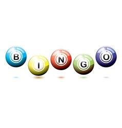 Bingo balls bounce vector image