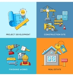 Building concepts Engineering construction vector image vector image