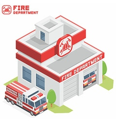 Fire Department building vector image vector image