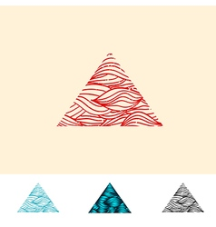 Japan Style Ocean Water Triangle vector image