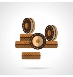 Roller wheels flat color design icon vector image