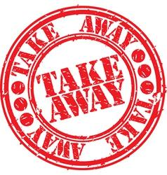Take away stamp vector image vector image