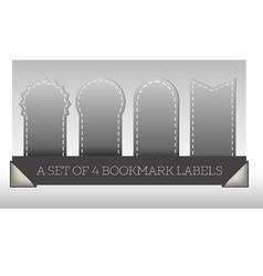 A set of 4 bookmark labels vector