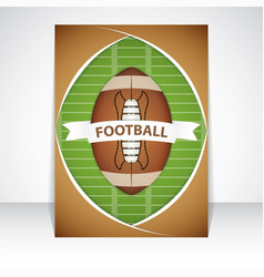 american football flyer vector image
