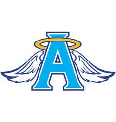 Angel sports team logo vector