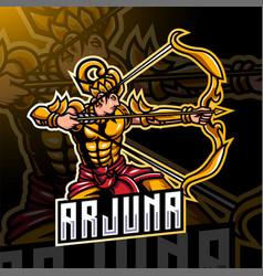 Arjuna esport mascot logo vector