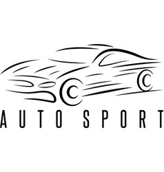 auto sport abstract car design template vector image