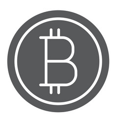 bitcoin glyph icon money and finance vector image