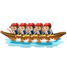 Boat racing vector image vector image