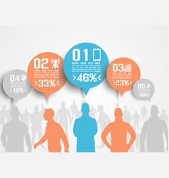Business man infographic option three 3 orange vector
