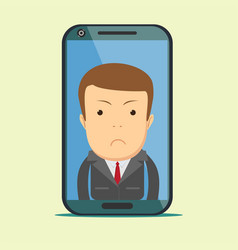 businessman with sad expression vector image