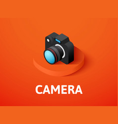 Camera isometric icon isolated on color vector