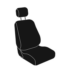 Car seatcar single icon in black style vector