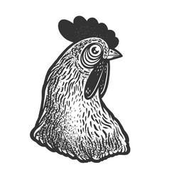 chicken head sketch vector image
