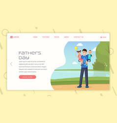 Child raising advice landing page template vector