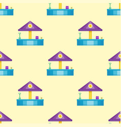 children playground fun childhood seamless pattern vector image