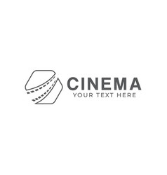 Cinema filmstrip graphic design template isolated vector