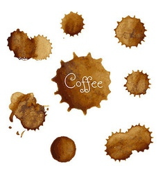 Coffee Stains Big Set vector image