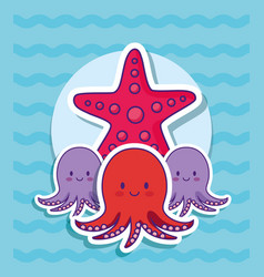 cute octopus icon vector image