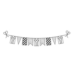 Decorations bunting flags for south africa vector