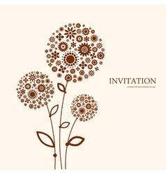 Decorative floral invitation vector image